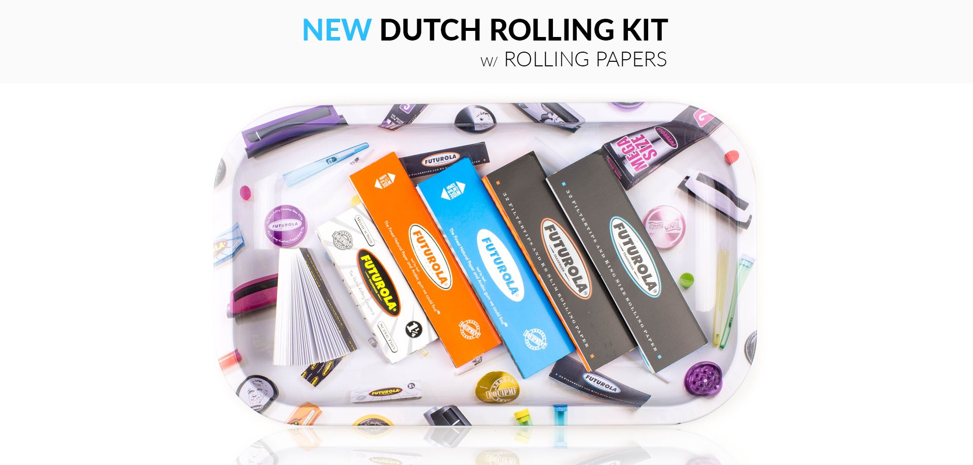DUTCH ROLLING KIT W/ ROLLING PAPERS
