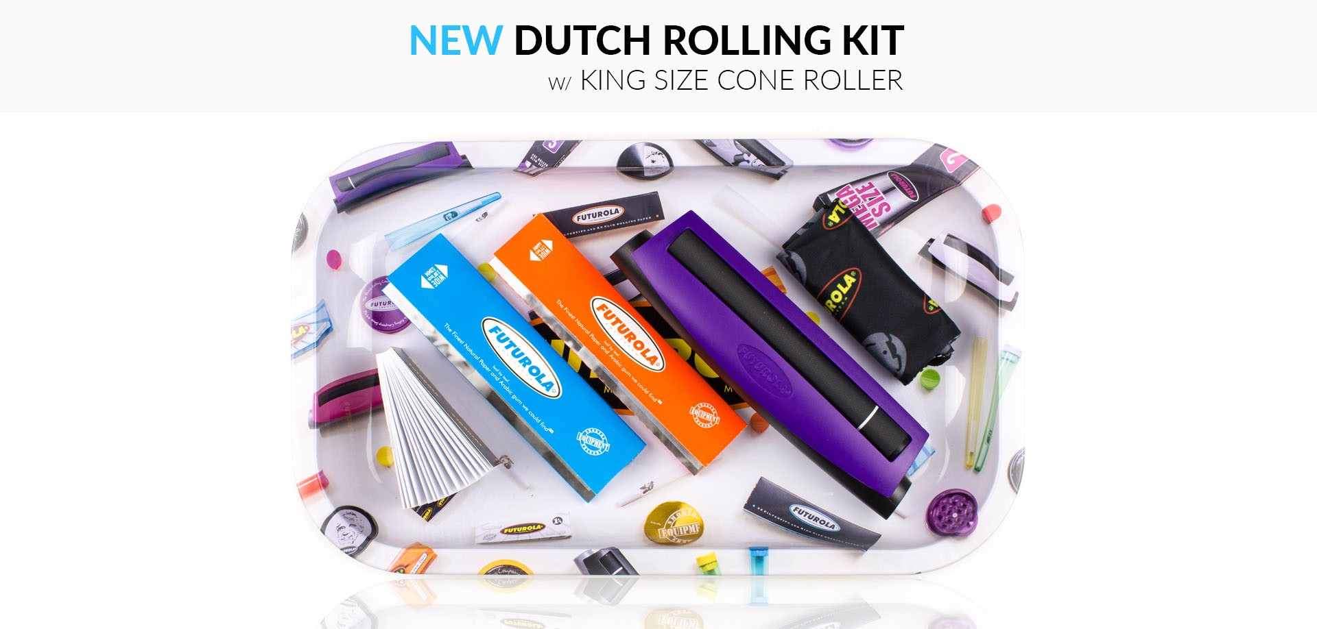 DUTCH ROLLING KIT W/ KING SIZE CONE ROLLER